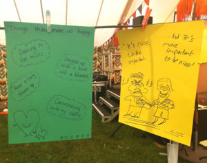 Positive messages at Camp Bestival